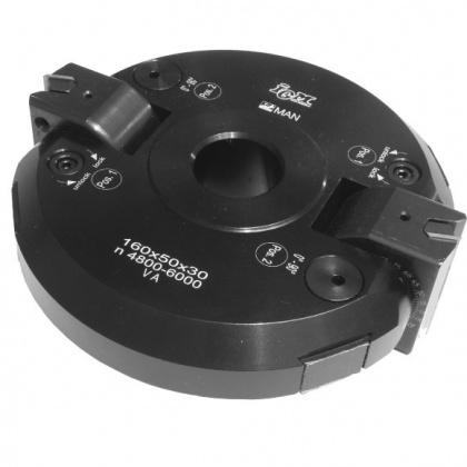 Fréza úhlová stavitelná s VBD  160x50x30  2z  ALU   F607-16030
