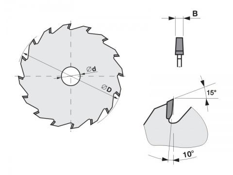 Předřezový kotouč SK kónický  140x3,1-4,2x20  5393     32 KON - PILANA