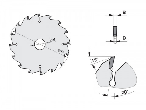 Pilový kotouč SK  550x5,5/3,5x30   5380-50   32 FZ - PILANA