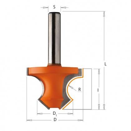 Fréza na okrasné rámy SK  45°  R8,0  36,0/22,0x25,0  d=8mm