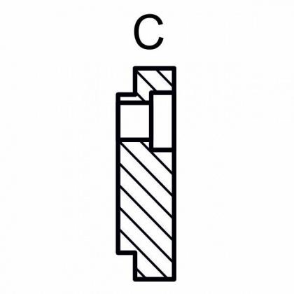 Příchytka pro trn CNC 30mm, typ C vnější