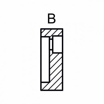 Příchytka pro trn CNC 30mm, typ B vnitřní