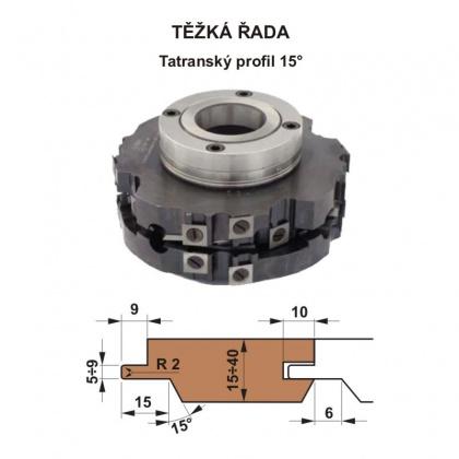 Sada fréz na pero a drážku s VBD 560 CF  160x40 / 4z - Tatranský profil 15°