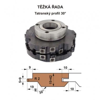 Sada fréz na pero a drážku s VBD 560 CF  180x40 / 4z - Tatranský profil 30°