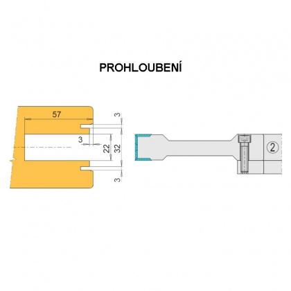 Posuvné dveře HS portál  245x33x30(40) VBD - prohloubení
