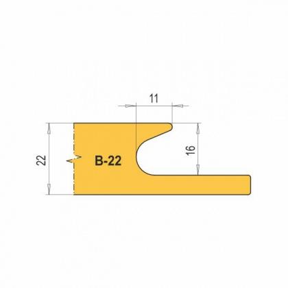 VBD B22-CNC na nábytkové úchytky (1 ks)
