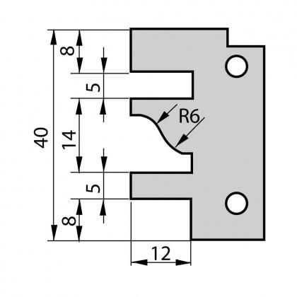 VBD do frézy na dvířka F641 - profil A