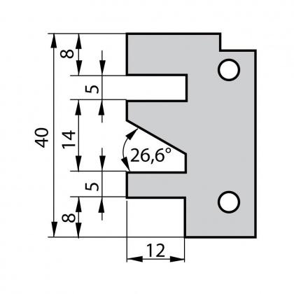 VBD do frézy na dvířka F641 - profil C