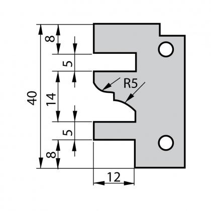 VBD do frézy na dvířka F641 - profil D