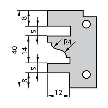 VBD do frézy na dvířka F641 - profil E