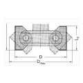 Stavitelná úhlová fréza S VBD - CNC  85-102x39,5/92 d=20  2z