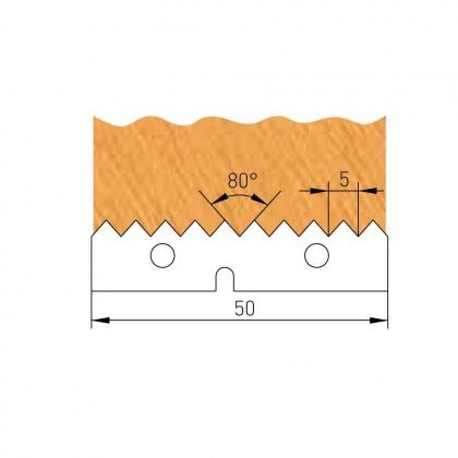 VBD na frézu spárovací  F621-125, 50,0x12,0x1,5
