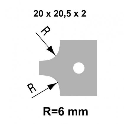 VBD R6  20,0x20,5x2,0 - UNI, pro frézu falcovací TH34FM10 - STARK
