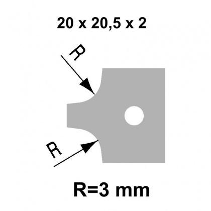 VBD R3  20,0x20,5x2,0 - UNI, pro frézu falcovací TH34FM10 - STARK