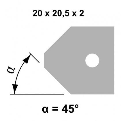 VBD 45° 20,0x20,5x2,0 - UNI, pro frézu falcovací TH34FM10 - STARK