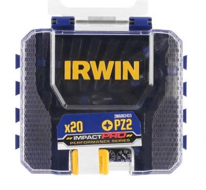 """IRWIN Impact Bit Pozidriv  PZ2 - 1/4"""" /25mm (bal.20ks)"""