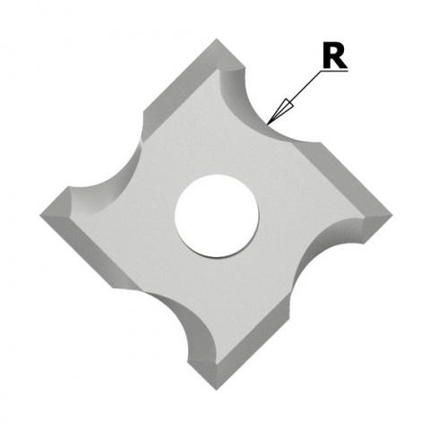 N034 Žiletka tvrdokovová radiusová