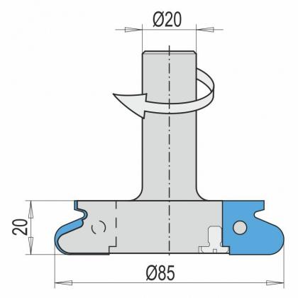 VBD nábytkové úchytky pro CNC