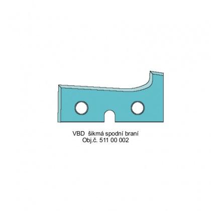 Profilový nůž šikmý - Spodní braní - mýdlo HW