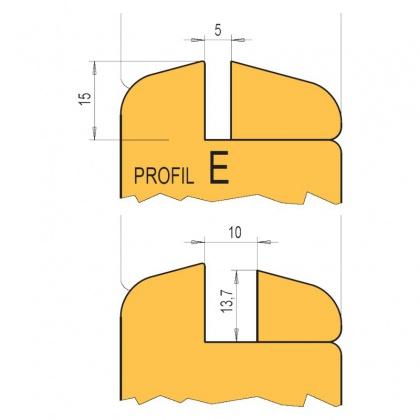 """Sada nožů Profil """"E""""  HL, na vnitřní dveře bez čepování"""