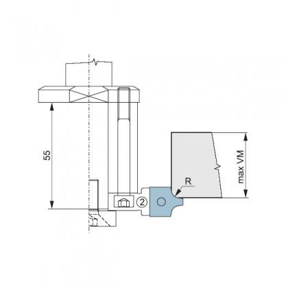 Náhradní HM zaoblovací nůž R2 do zaoblovací (srážecí) sady stavitelné - CNC