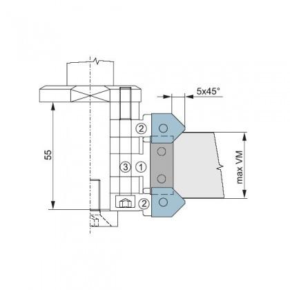 Náhradní HM srážecí nůž 45° do zaoblovací (srážecí) sady stavitelné - CNC