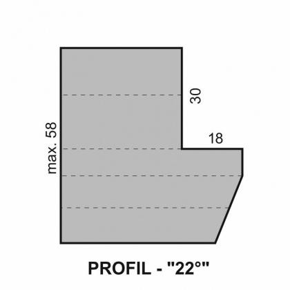 """Sada fréz na okenní křídlo s VBD - Profil """"22°"""" - pro izolační dvojsklo - diterm"""