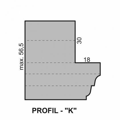 """Sada fréz na okenní křídlo s VBD - Profil """"K"""" - pro izolační dvojsklo - diterm"""