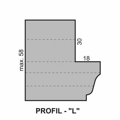 """Sada fréz na okenní křídlo s VBD - Profil """"L"""" - pro izolační dvojsklo - diterm"""