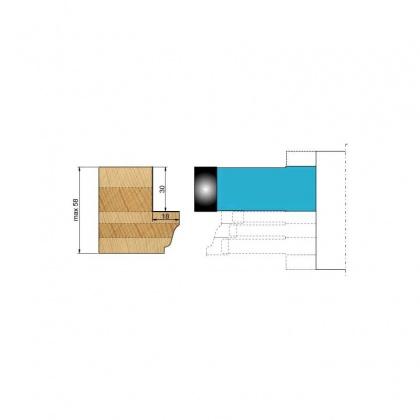 Fréza na okenní křídlo s VBD - doplněk pro diterm