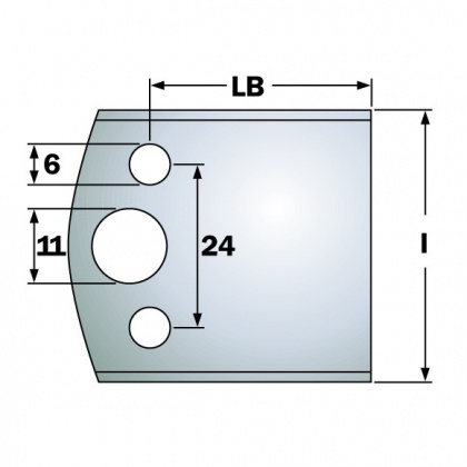 Polotovar omezovače 38x47x4