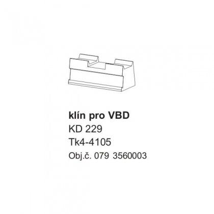 Klín KD 229 VBD do univerzální frézovací hlavy KARNED