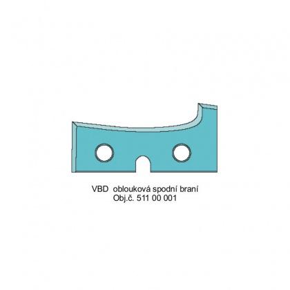 Profilový nůž obloukový - Spodní braní - mýdlo HW