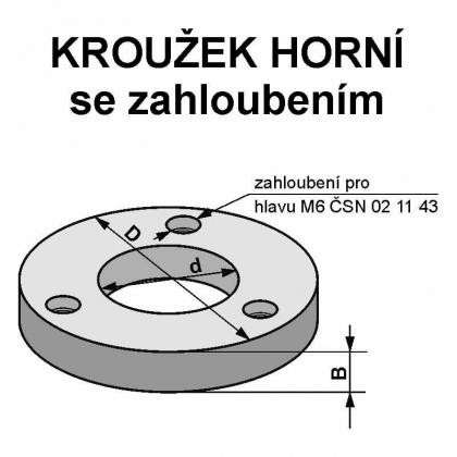 Kroužek horní   65 x 30 / 11,0 mm + 3/6/48 - OCEL - RH+