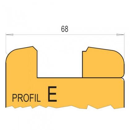 Sada nožů E  HL (profil+kontraprofil), na domovní dveře bez čepování