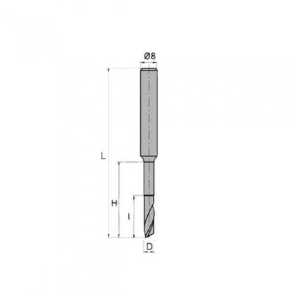 Fréza pro dřevěná eurookna SK    5x80/36/20  d=8mm