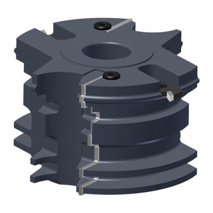 Sada fréz na obložkové zárubně s VBD 140x75,5x30  2z, 49104, pro těsnění 12mm