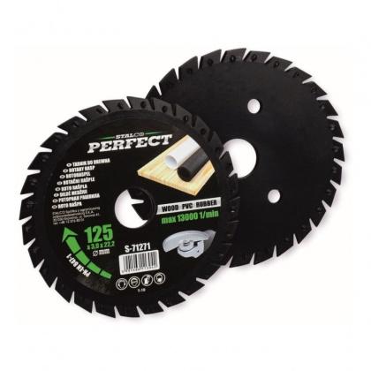 Rotační rašple pilková  125x22,2x3,0mm STALCO PERFECT