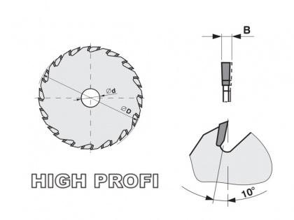 Předřezový kotouč SK skládaný  140x2,8-3,6x20  5393.1  14+14 FZ HP - PILANA