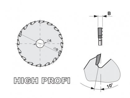 Předřezový kotouč SK skládaný  160x2,8-3,6x20  5393.1  16+16 FZ - PILANA