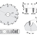 Pilový kotouč SK  450x4,0/3,2x30  5387-13  108 TFZ N - PILANA