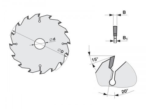 Pilový kotouč SK  600x5,5/3,5x30   5380-40   48 FZ - PILANA